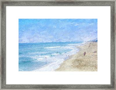 A Day At The Beach Framed Print by Randy Steele