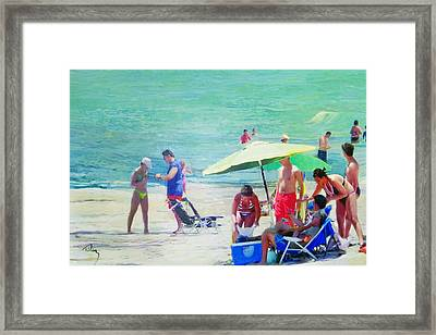 A Day At The Beach Framed Print