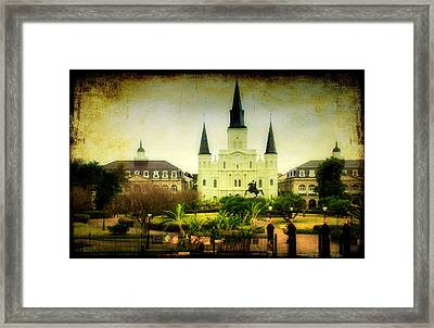 A Day At The Church Framed Print by Iris Greenwell