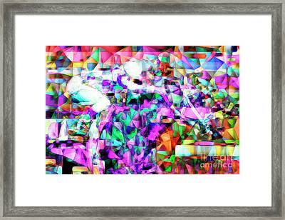 A Day At The Horse Race Track In Abstract Cubism 20170329 Framed Print
