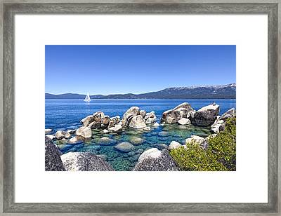 A Day At The Lake Framed Print by Janet Fikar
