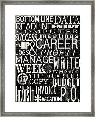 A Day At The Office Framed Print