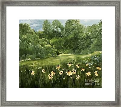 A Day At The Park Framed Print by Carol Sweetwood