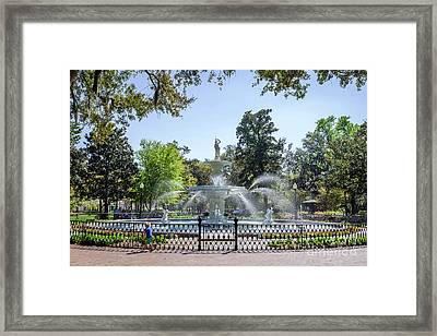 A Day At The Park Framed Print by Joan McCool