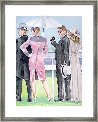 A Day At The Races Framed Print by Arline Wagner