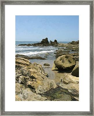A Day At The Shore Framed Print by Carol Peck