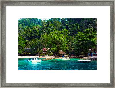 A Day At The Village Framed Print by Mumbles and Grumbles
