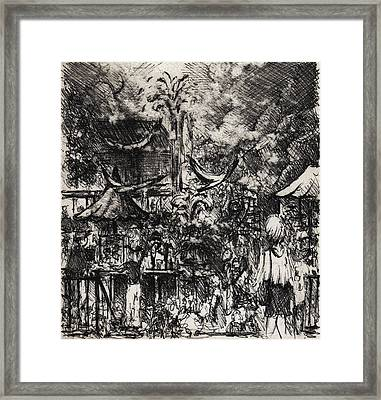 A Day At The Zoo Framed Print