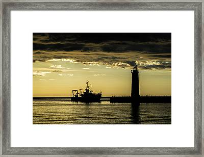 A Day At Work Framed Print