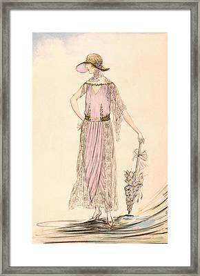 A Day Dress Framed Print by English School