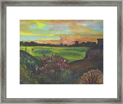 A Day For Golfing At Cypress Creek Framed Print by Anne-elizabeth Whiteway