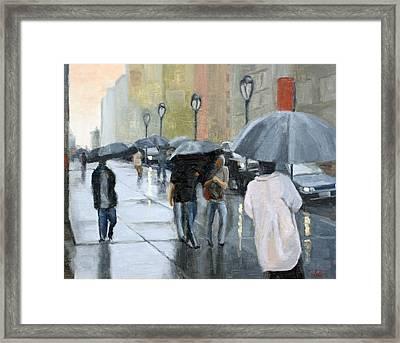 A Day For Umbrellas Framed Print