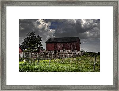 A Day In A Life Of A Farm Framed Print by Deborah Klubertanz