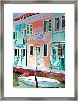 Framed Print featuring the painting A Day In Burrano by Patricia Arroyo