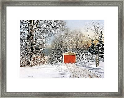 A Day In December Framed Print by Conrad Mieschke