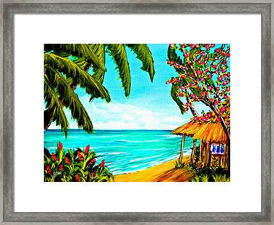 A Day In Paradise Hawaii Beach Shack  #360 Framed Print by Donald k Hall