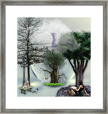 A Day In Paradise Framed Print