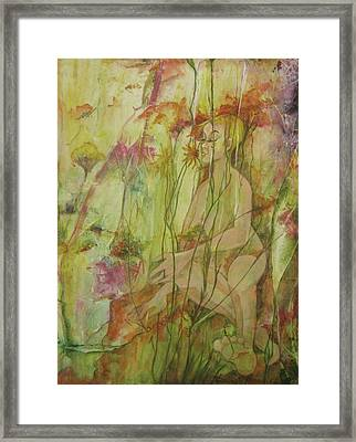 A Day In The Flowers Framed Print by Georgia Annwell