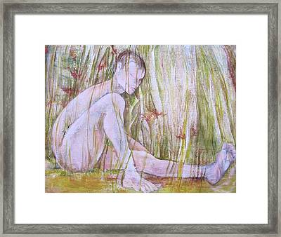 A Day In The Grass Framed Print by Georgia Annwell