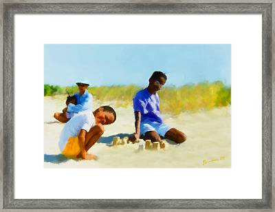 A Day On The Beach Framed Print