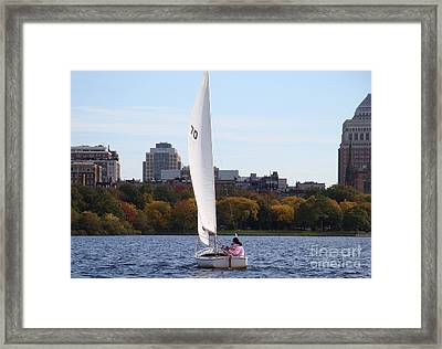 a day on the Charles Framed Print by Robyn Leakey