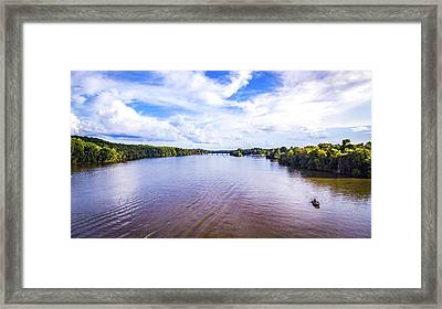 A Day On The River Framed Print