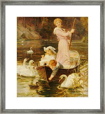 A Day On The River  Framed Print by Frederick Morgan