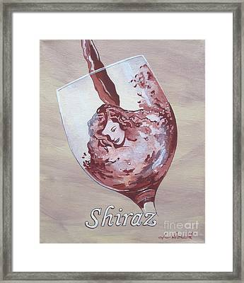 A Day Without Wine - Shiraz Framed Print by Jennifer  Donald