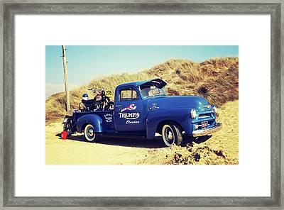 A Days Desert Racing Framed Print