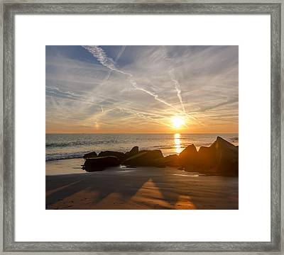A Days End  Framed Print