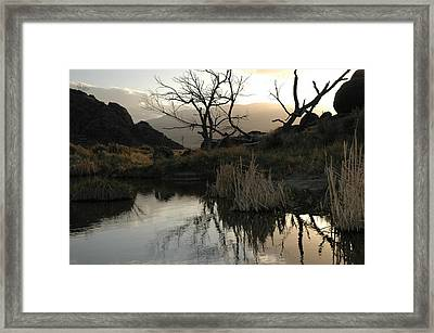 A Days End Framed Print by Lori Mellen-Pagliaro