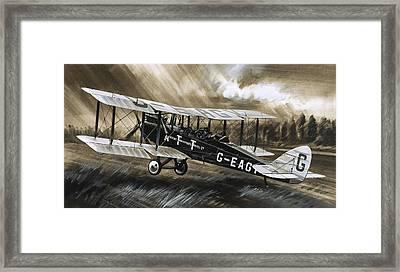 A De Havilland Dh98 Framed Print by Wilf Hardy