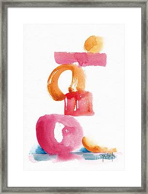 A Delicate Balance Abstract #5 Framed Print by Pat Katz