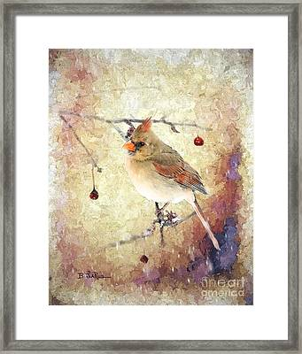 Framed Print featuring the photograph A Delicate Thing by Betty LaRue