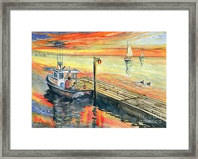 A Delightful Evening Framed Print by Melly Terpening