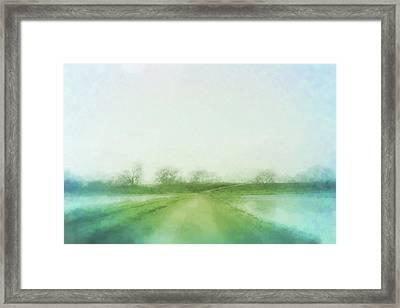 A Delta Road Framed Print