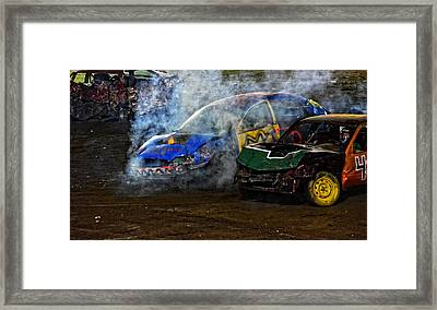 A Demo Fire Framed Print by Mike Martin