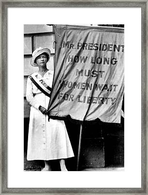 A Demonstration For Equal Rights Framed Print by Everett