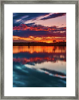 A Denver Dawn Framed Print by John De Bord