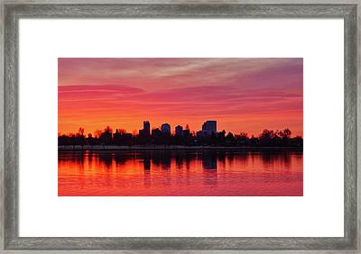 A Denver Morning Framed Print