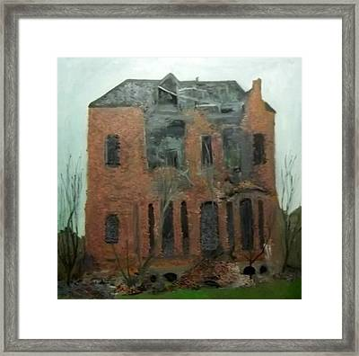 A Derelict House Framed Print