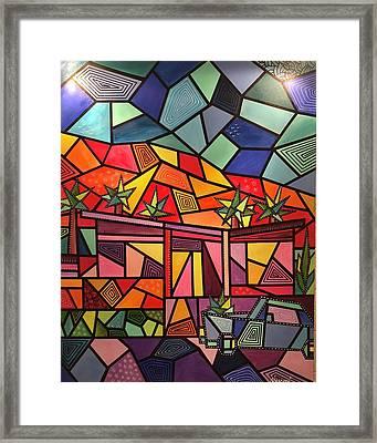 A Desert Home Framed Print