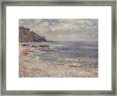 A Deserted Rocky Shore Framed Print by William McTaggart