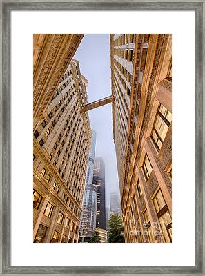 A Different Perspective Of The Wrigley Building And Trump Tower Playing Hide And Seek - Chicago Framed Print