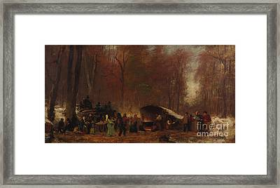 A Different Sugaring Off Framed Print by Celestial Images
