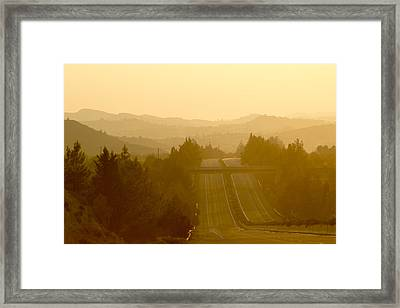 A Different Sunset Framed Print by Stelios Kleanthous