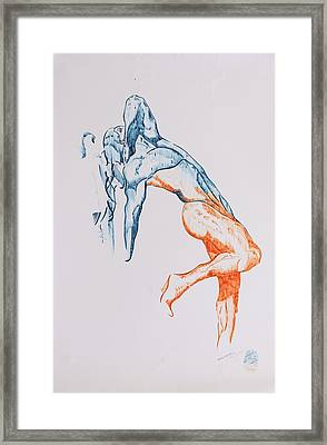 A Different View Of Jesus Framed Print by Contemporary Michael Angelo
