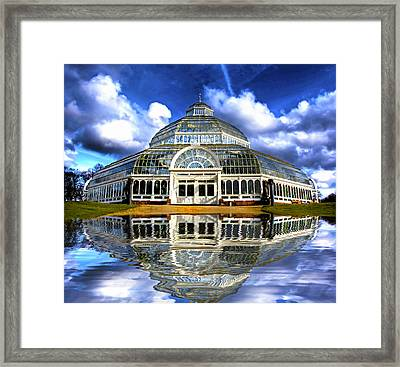 A Digital Painting Of Sefton Park Palm House Liverpool England Framed Print