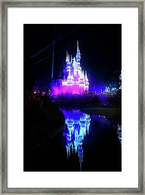 Framed Print featuring the photograph A Disney New Year by Mark Andrew Thomas