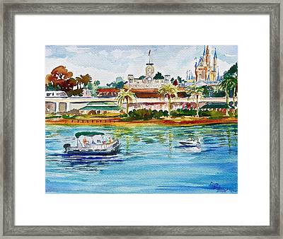 A Disney Sort Of Day Framed Print by Laura Bird Miller